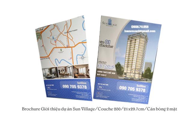 In brochure dự án Sun Village