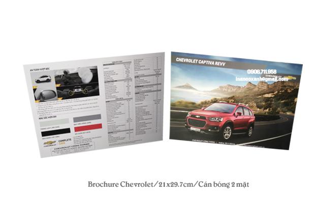 Mẫu brochure của Chevrolet