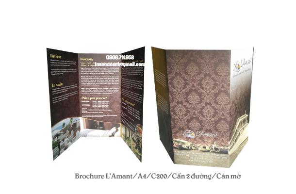 Mẫu in brochure của L'Amant