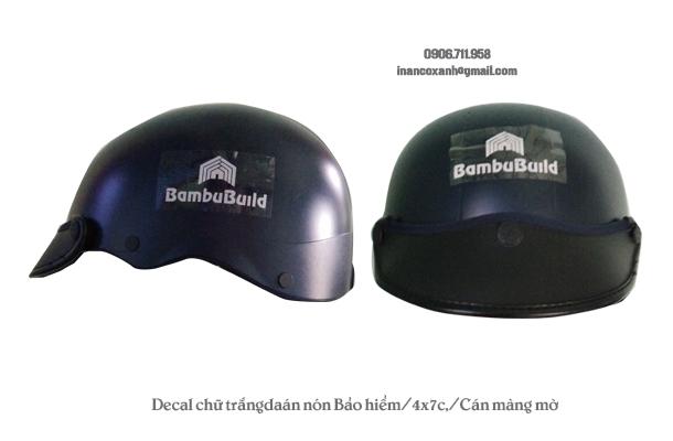 Mẫu decal dán nón bảo hiểm