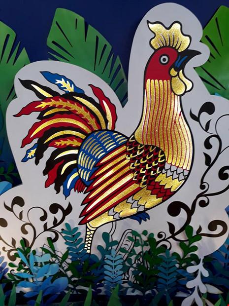 bức tranh con gà