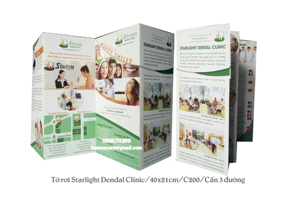 Tờ rơi Starlight Dental Clinic