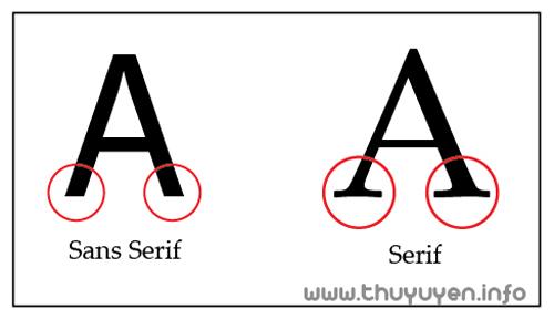 phân biệt họ font serif và sans-serif