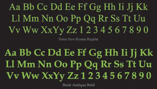 serif font chữ có chân