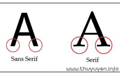 Hướng dẫn phân biệt họ font Serif và Sans-Serif