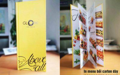 In menu giấy bồi – menu da